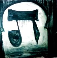 '' Black Tav''Oil on canvas - 60x60cm