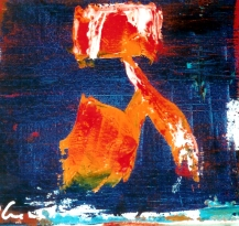 '' Flying Gimel''Oil on canvas - 20x20cm
